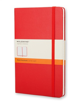 Moleskine notebook pkt rul red hard