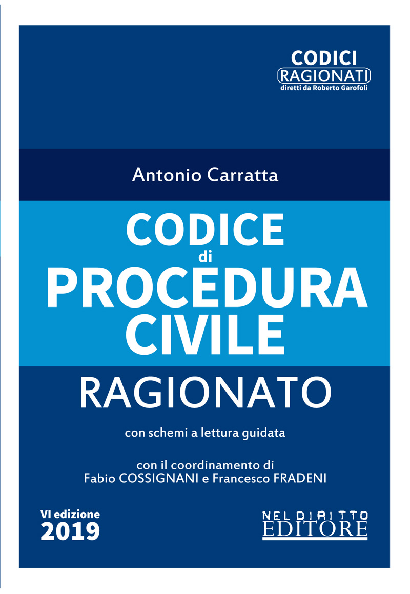 CODICE DI PROCEDURA CIVILE RAGIONATO